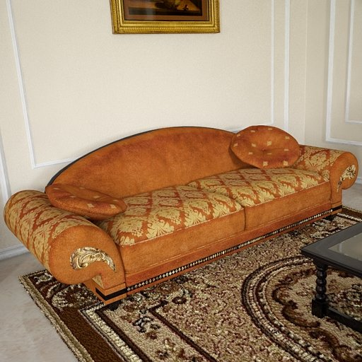 3D model of the Mediterranean style sofa