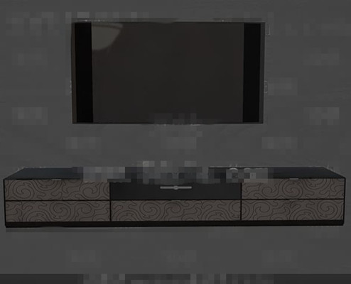 Modern fashion gray and black television wall