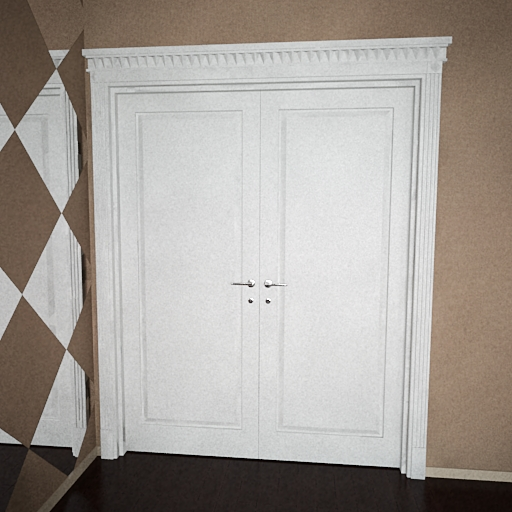 White double-layer door 3D models