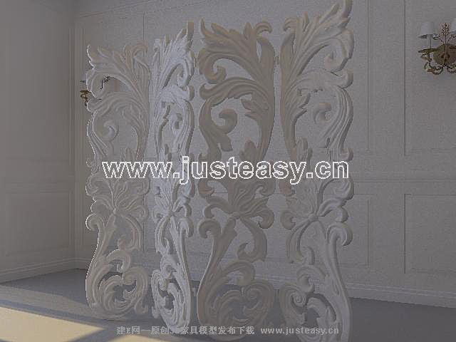3D Model of European plaster wall (including materials)