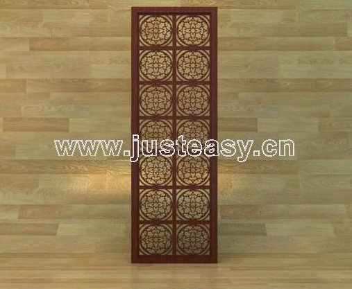 3D Model of ancient Chinese screen (including materials)