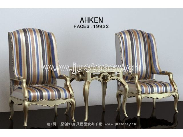 Elegant gold chairs monomer