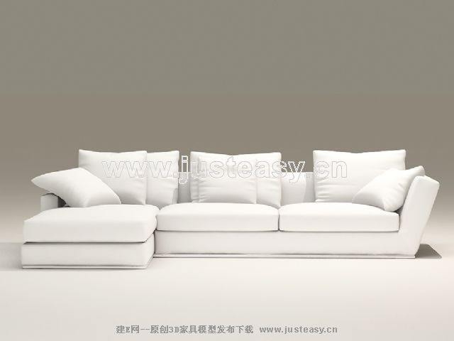 European-style combination of white and elegant sofa