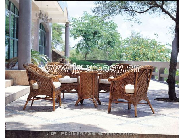 Combination of classical furniture, tables and chairs