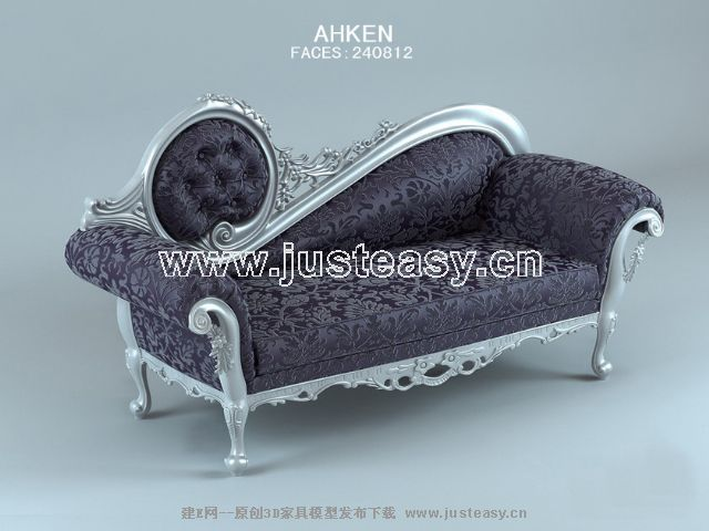 European purple sofa