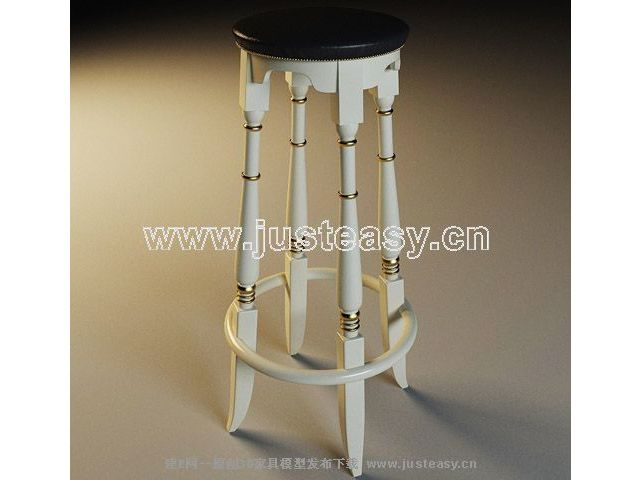 Tall black and white chair