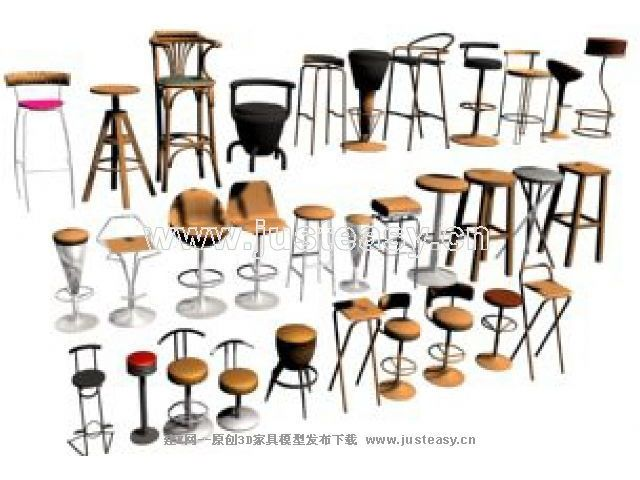 Various monomers height chairs