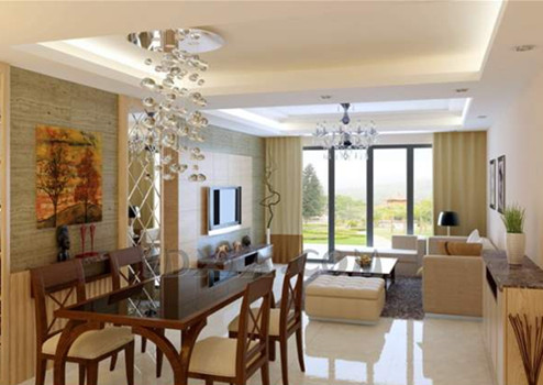 Modern warm and bright living room