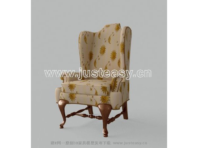 Single high-back sofa