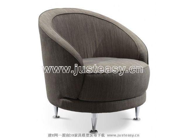 Gray neo-classical sofa
