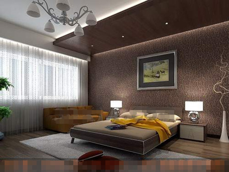 Brown theme simple bedroom