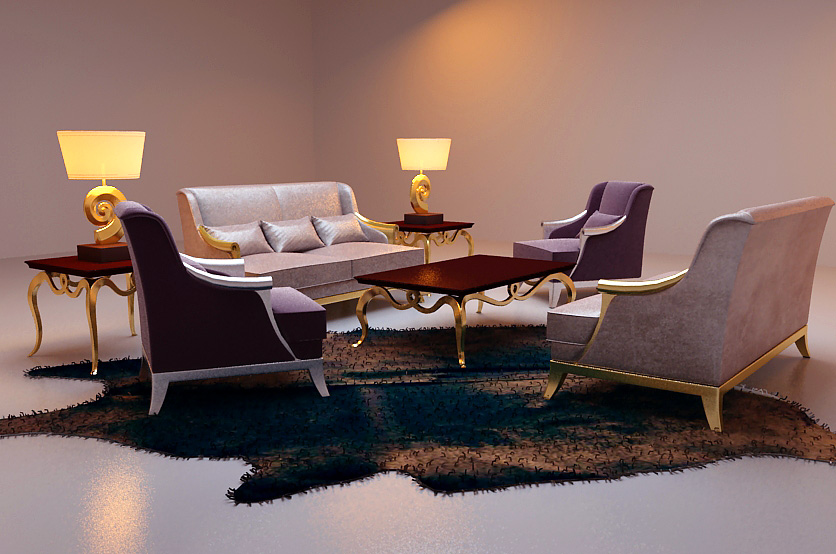 Leisure sofa combination of Po Yang
