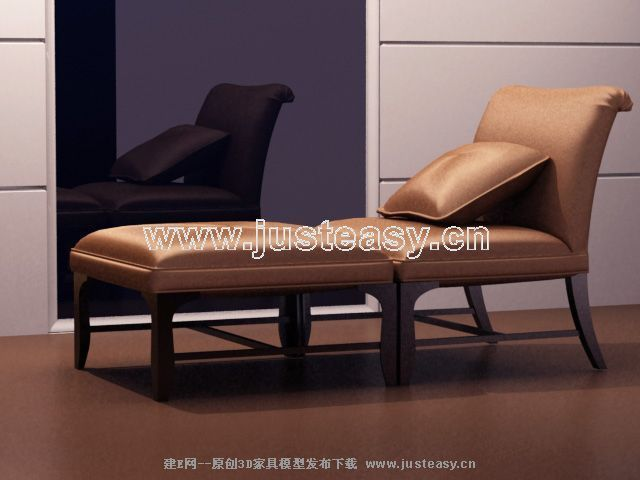 Ruanmian chair 3D model (including materials)