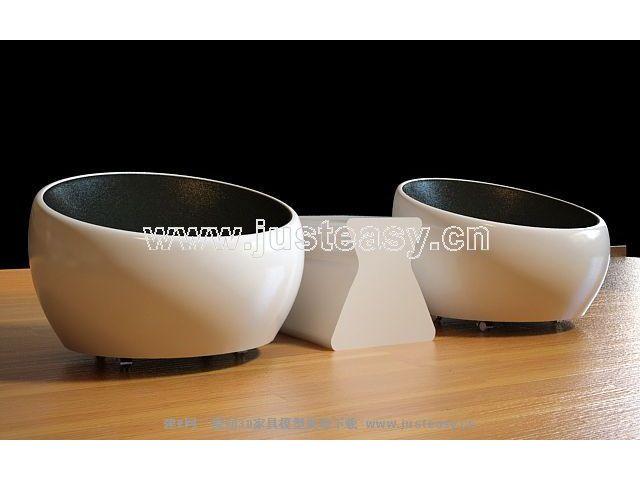 3D model fashion circular seats (including materials)