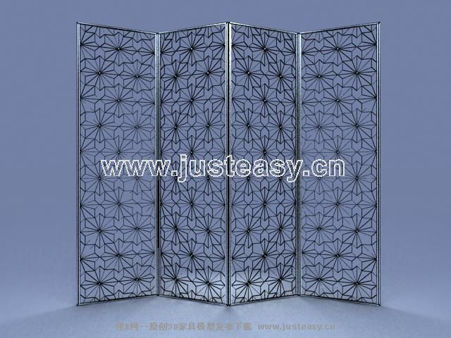 3D Model of European British Iron screen (including materials)