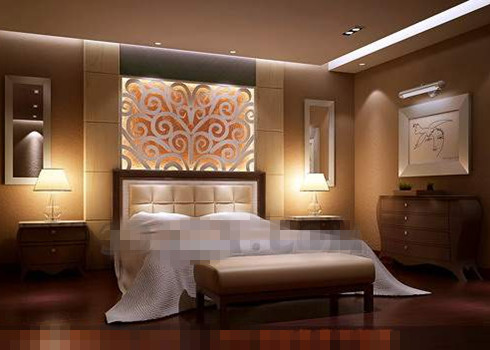 Modern brown theme bedroom