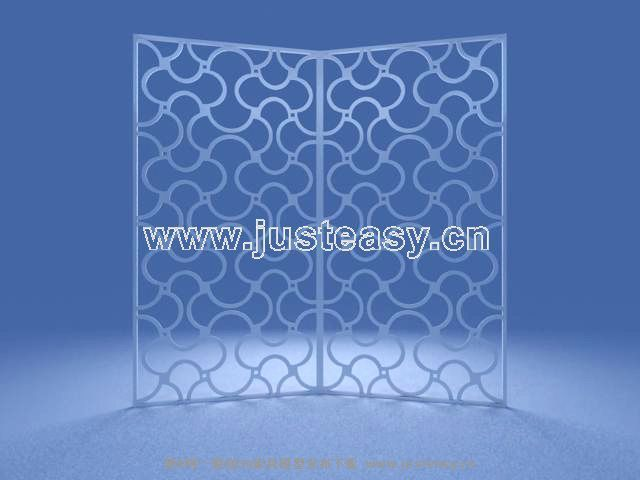 Iron screen 3D model of stylish furnishings