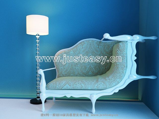 New sofa 3D Model of European (including materials)