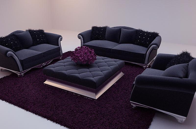 Fantastic Black Soft Sofa 3D Model Including Materials Free Download Inzonedesignstudio Interior Chair Design Inzonedesignstudiocom