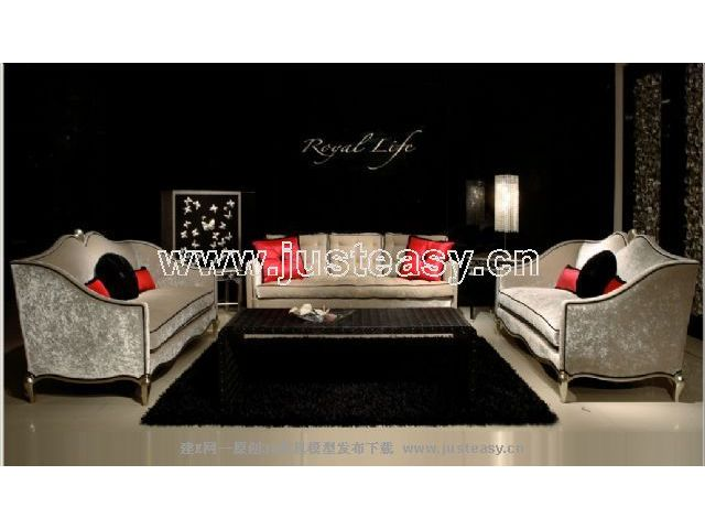 Combination of two low-key luxury sofa