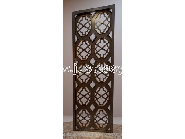 3D Model of Chinese wooden window grilles (including materials)