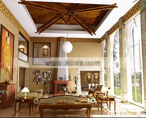 Exquisite Mediterranean-style living room