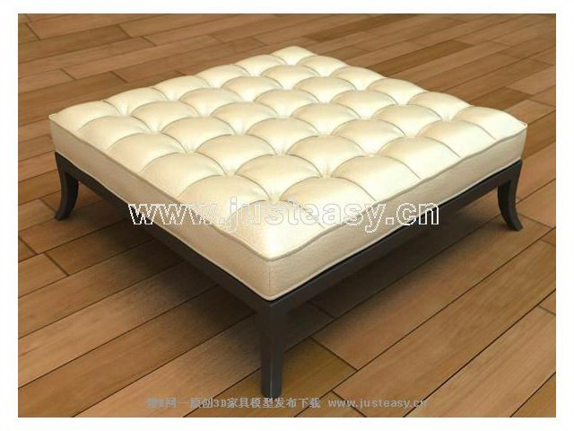 3D model of soft stool (including materials)