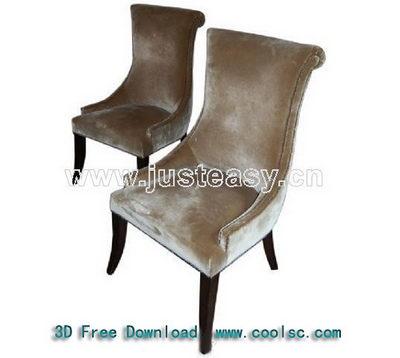 European-style dark-colored soft sofa chair