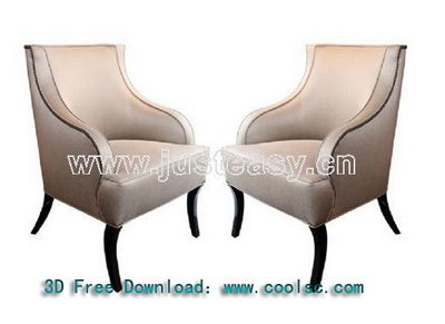 White deep back sofa 3D model (including materials)