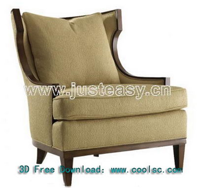 Neo-classical gray sofa 3D model (including materials)
