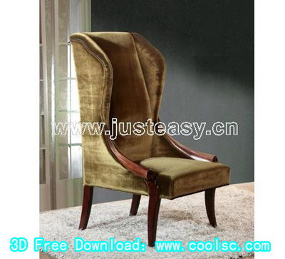 3D Model of European high chairs