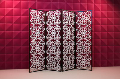 3D Model Chinese Butterfly Screen