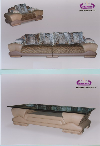 Gray sofa and coffee table 3D Model of Business