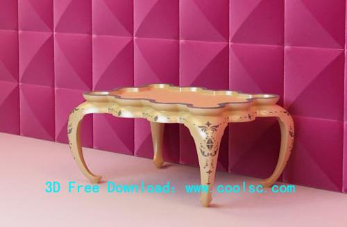 European style tea table