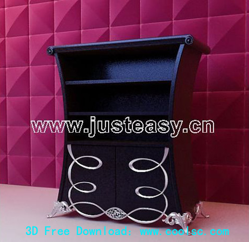 European style Meal side cabinetand backdrop