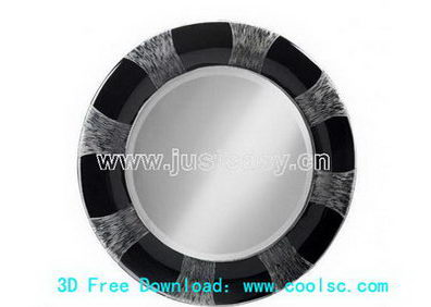 Round makeup mirror 3D Model (including materials)