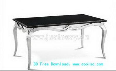 3D Model of European metal coffee table