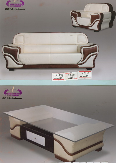 Elegant white sofa and coffee table 3D Model