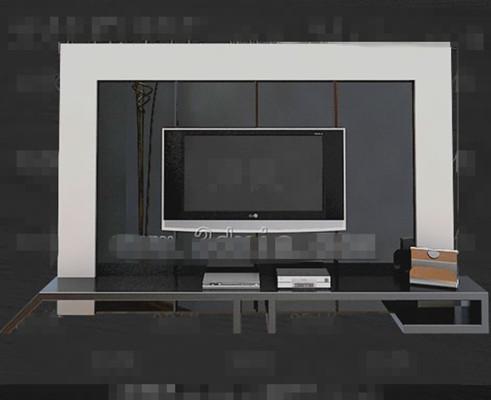 Silver unique television cabinet