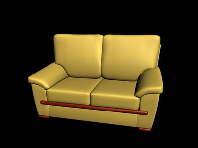 Soft brown sofa double