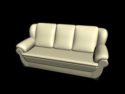 silvery white leather sofa