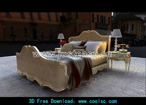 Combination of European style bed (including materials)