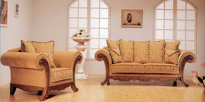 Noble and generous living room sofa