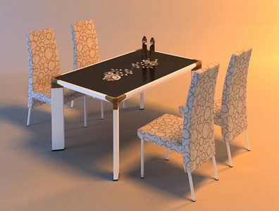 Morden and fashion table and 4 chairs