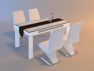 Pure white solid wood dining chairs and desk free download - Modele de table de cuisine en bois ...