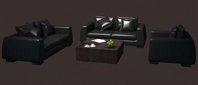 Boss leather sofa units