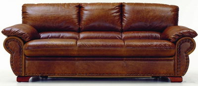 Boss leather sofa