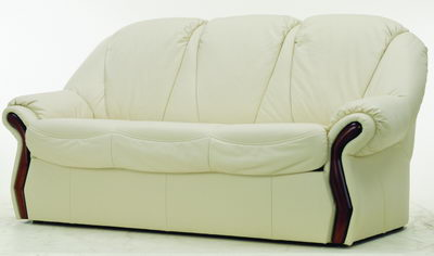 White leather sofa 3D model over