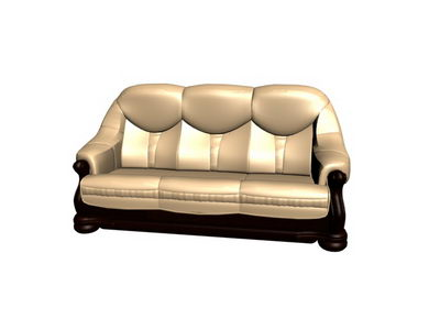 3D Model of gold over the sofa