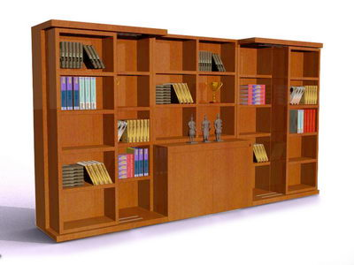 Solidwood modular bookshelf